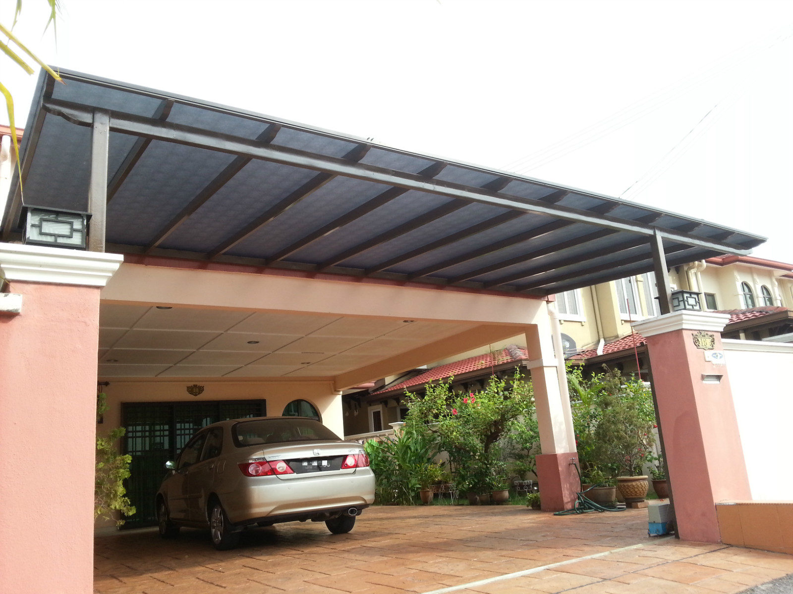 Mild Steel Awning With 3mm Solid Polycarbonate Sheet