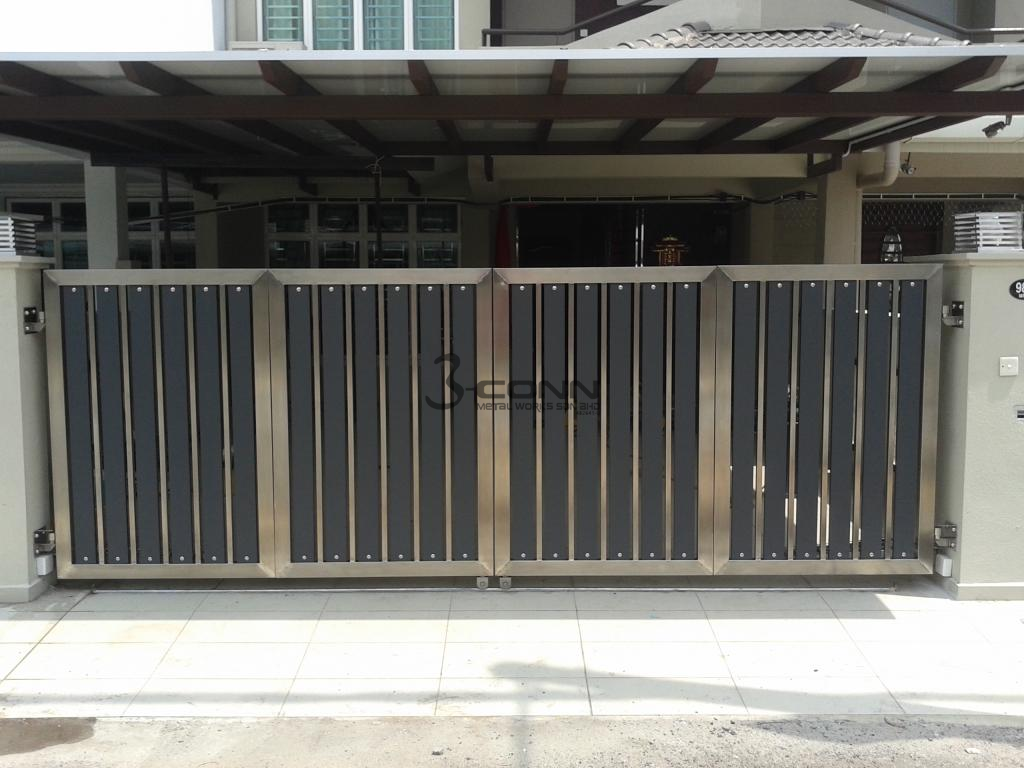 Stainless Steel Main Gate Stainless Steel Folding Main