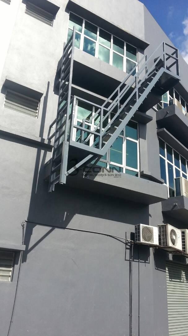 Mild Steel Emergency Staircase