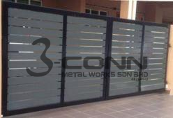 Mild Steel Main Gate with Powder Coated
