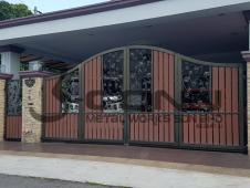 Wrought Iron Folding Main Gate with Aluminium Plate