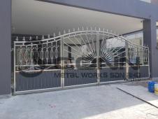 Stainless Steel Folding Main Gate