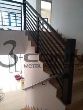 Mild Steel Staircase Railing with Powder Coated
