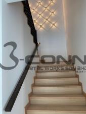 Wall Mounted Nyatoh Wooden Handrail