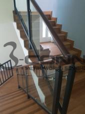 Mild Steel Handrail with Wooden Topping