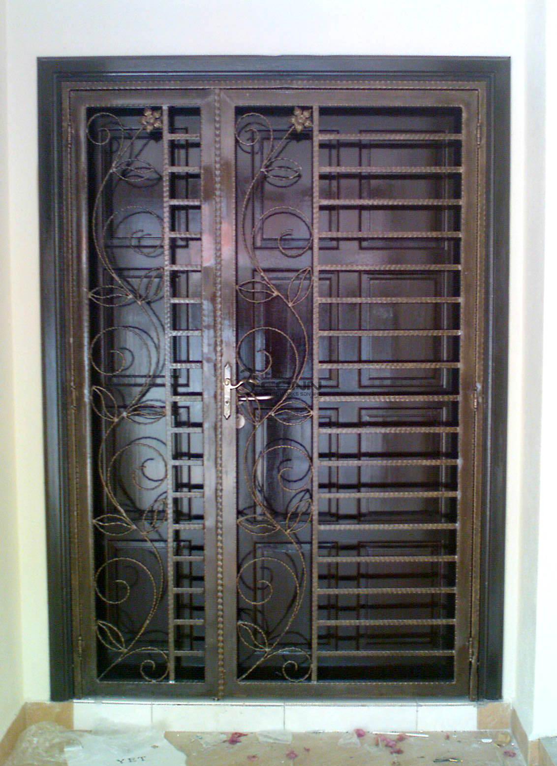 Wrought Iron Door Grill