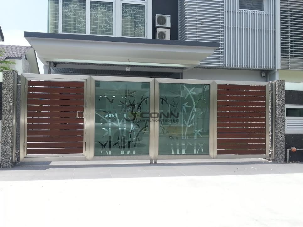Stainless Steel Folding Main Gate Stainless Steel Folding