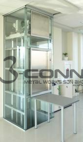 Glass Panel Dumb Waiter Lift