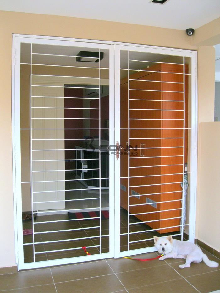 Mild Steel Door . Image Number 26 Of Grill Door Malaysia . & Grilled Door \u0026 Door Window Grills Page. Portfolio Feng Metal ... Pezcame.Com