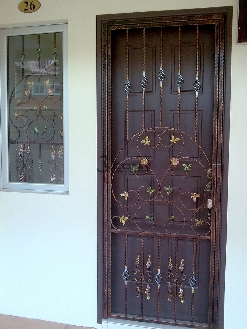 Wrought Iron Door Grille