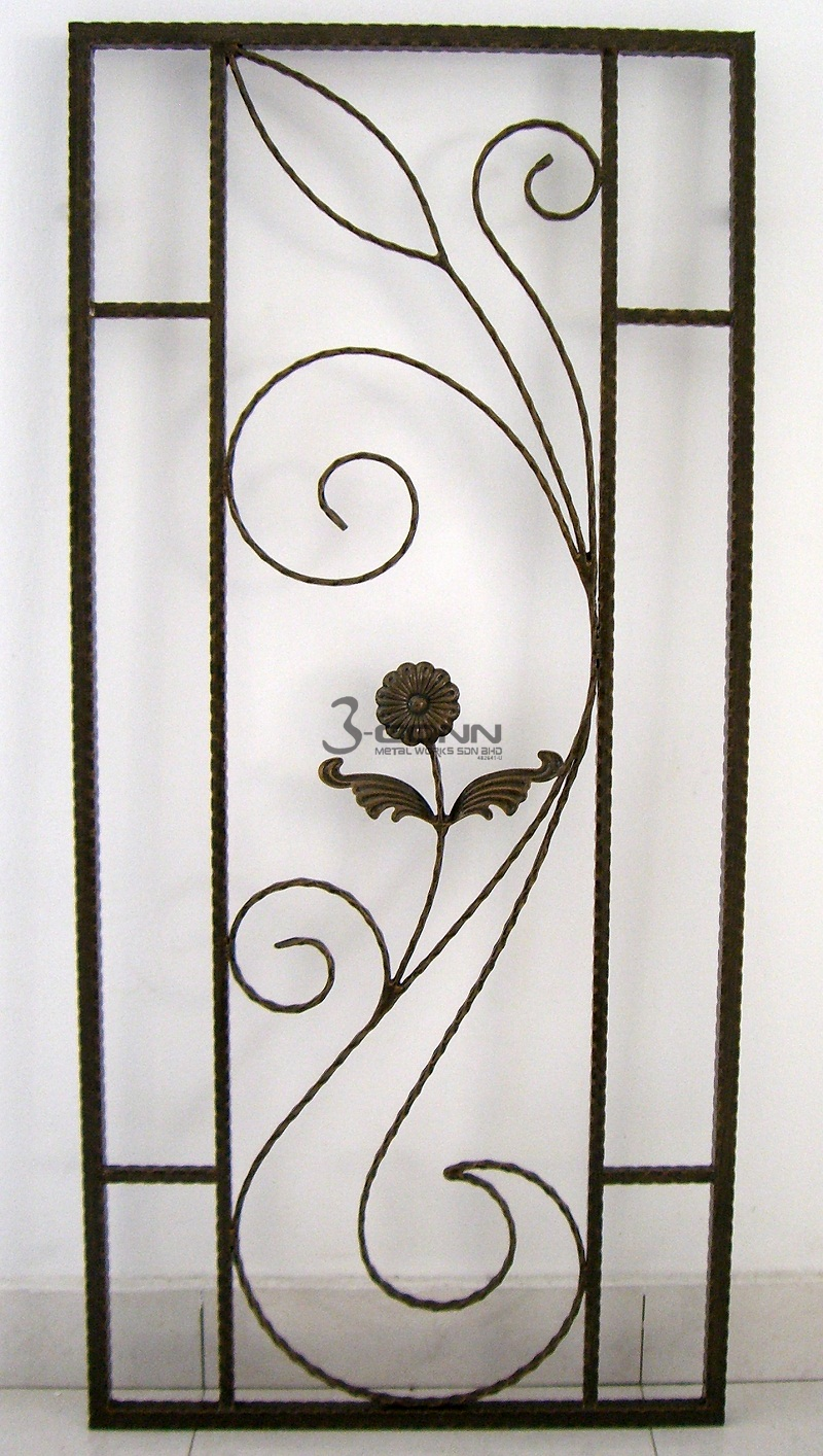 Wrought iron window grille