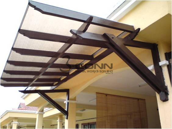 Pergola Awning With Polycarbonate Sheet
