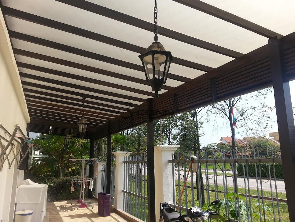 Pergola With 3mm Polycarbonate Sheet