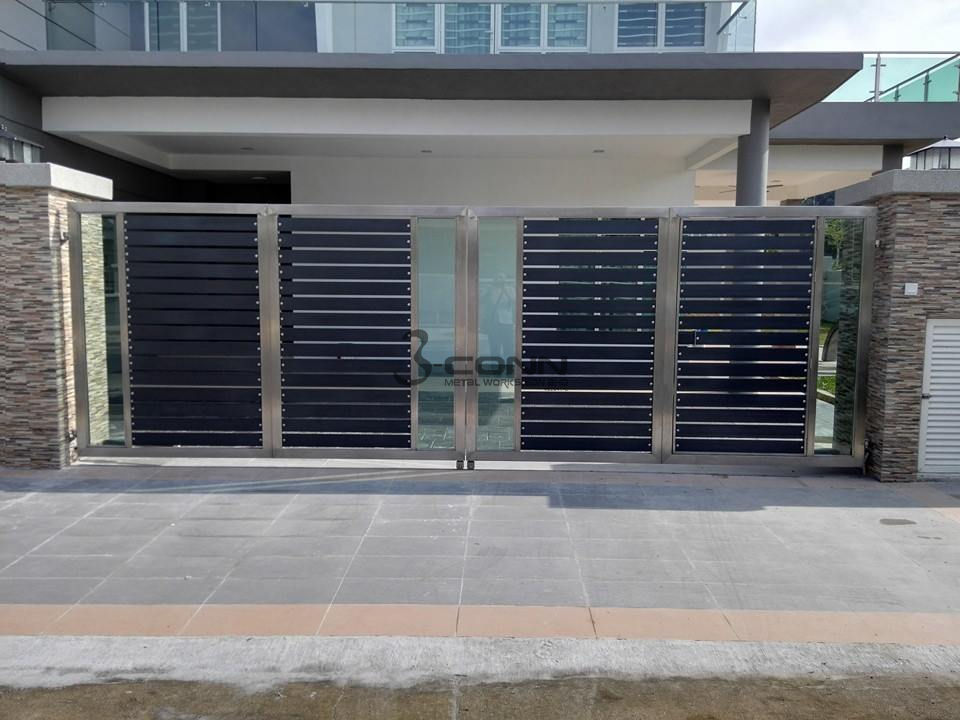 Stainless Steel Folding Main Gate Stainless Steel Folding Gate Folding Gate Folding